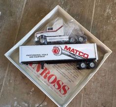 Custom Designed Collectible Winross Matco Tools Truck Trailer 1/64 Scale