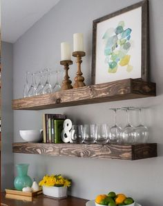 Easy chunky floating shelf ideas that you can DIY