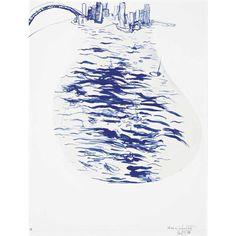 Sketch of lavender bay
