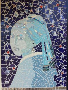 Delft Mosaic - Girl With a Pearl Earring