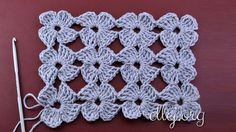 Цветочный узор Клевер. Безотрывное вязание.