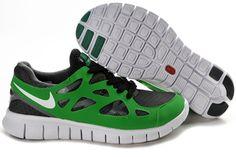 Nike Free Run 2 Dark Gray Green Black Sneaker For Men #Black #Womens #Sneakers