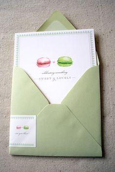 handpainted macron letterpress - by truly smitten
