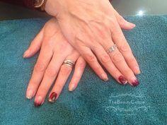Gel overlays #nailart #gelpolish #gelnails #shortnails #glitternails #glitter #red #gold #instanails #nailfashion #manicure #polish #nails #cute #nofilter #the #beauty #centre #braintree