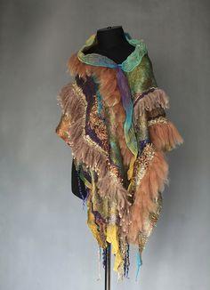Nuno Felted Fur Free Wrap Scarf | Flickr - Photo Sharing!