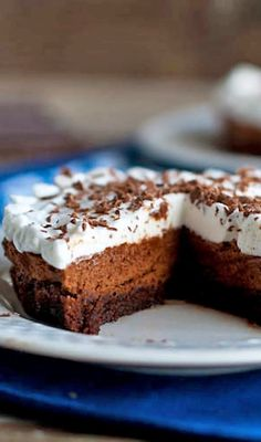 French Silk Brownie Pie | What a fabulous dessert! Love this idea.