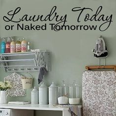 Labeled laundry baskets and detergents in jars ! Sorting Out Life One Load At A Time Laundry Room Vinyl Decal Stickers Lettering Small Laundry Rooms, Laundry Room Organization, Laundry Room Design, Bathroom Laundry, Laundry Closet, Bathroom Vanities, Bathroom Storage, Small Bathroom, Foyer Decorating