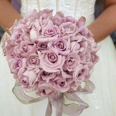 Bruidsboeket biedermeier oud roze  rozen