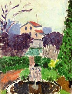 The Artist's Garden at Issy les Moulineaux - Henri Matisse -  house at 92 Avenue du Général de Gaulle