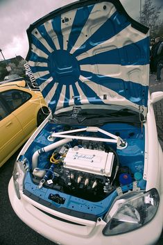 Image result for honda civic ek engine bay