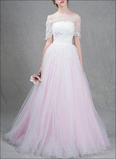 Brautkleider - Farbiges Brautkleid mit abnehmbarem Cape - ein Designerstück von lafanta bei DaWanda