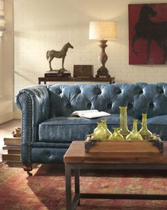1000 Ideas About Blue Leather Couch On Pinterest Blue Leather Sofa Leather Couches And Couch