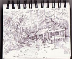 drawing in dago pakar forest