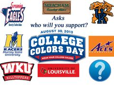 Who will you support?  Visit our Facebook page to answer the question for a chance to win a prize.  www.facebook.com/meachamhams  #CCD #CollegeColors