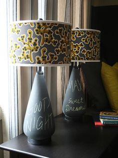 Kids Room Projects Chalkboard Lamps