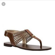 136852867ad Steve Madden Shoes | Steve Madden Sandals | Color: Brown/Gold | Size: 11