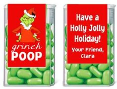 Christmas Tic Tacs - Grinch Poop