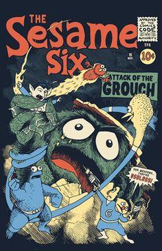 The Fantastic Four + Sesame Street = The Sesame Six