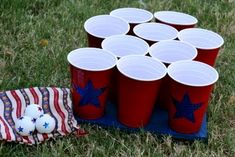 Beer pong Merican style... if you can get anymore American than beer pong as it already is.