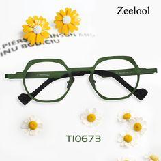 c2b85e6878a Hilary Geometric Green Glasses TI0673-02 Titanium Glasses