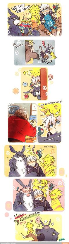 """Sandman is just like, """"Okay, let's see what Jack is dreaming about~!""""  This is beautiful.  XD"""