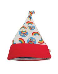 Frugi organic cotton baby hat - Rainbow Owls