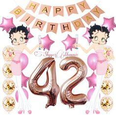 Betty Boop Happy 42nd Birthday, Happy 42nd Birthday Happy 42nd Birthday, Betty Boop Birthday, Minnie Mouse, Disney Characters