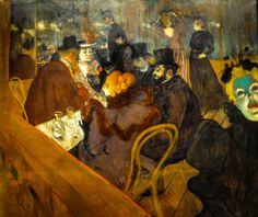 All sizes | Henri de Toulouse-Lautrec - At the Moulin Rouge, 1895 at Art Institute of Chicago IL, via Flickr.