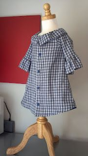 """Love this dress from """"Little Grey Line"""" for Nora.  My friend Jessica makes these dresses from your own recycled men's shirt.  I'm thinking this would make a wonderful Father's Day gift to your husband when he sees his daughter in a dress made from his old shirt!!  So precious!"""