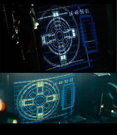 screen captures of screens in Blade Runner and Alien