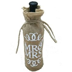 Couples Wine Jute bag.