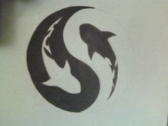yin yang shark tattoo - Google Search