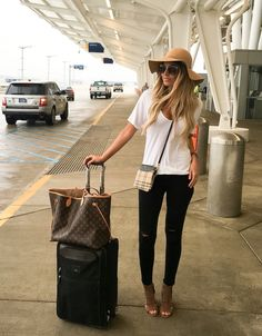 For-Airport-Style/ airport outfit spring, airport outfits, airport attire, Travel Outfit Summer Airport, Airport Style, Airport Outfits, Airport Attire, Airport Hacks, Airport Chic, Airport Fashion, Look Fashion, Denim Fashion