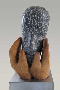 Michiel van Pinxteren - Stenen kop houten handen   Galerie De Verzameling