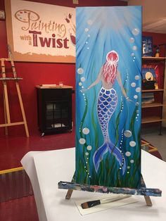 the beauty beneath the mysterious blue waters beckons will you answer the call explore the vast depths of the ocean and discover a world filled with ? Mermaid Canvas, Mermaid Art, Vintage Mermaid, Mermaid Tails, Diy Canvas, Canvas Art, Mermaid Drawings, Mermaid Paintings, Ocean Paintings