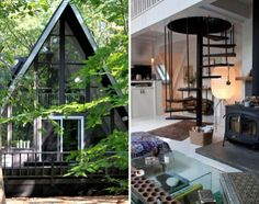 Theresa di Scianni's A-frame home, photographed by Anne-Claire Rohe for Petits Papiers