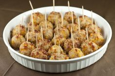 Sausage Cheese Balls make for the perfect little appetizer to serve to your guests at any holiday party, and especially for New Year's Eve.