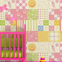 Papel de parede adesivo Baby Patchwork - StickDecor | Decoração Criativa