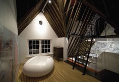 Lute Suites, Amsterdam, Netherlands All the Suites have a kitchenette, a wine rack, a flat LCD screen. Inside the bathroom you will find a bath and a separated shower. Attic Media Room, Hotel 6, Loft Interiors, Amsterdam Netherlands, Interior Inspiration, Wander, Around The Worlds, House Design, Places