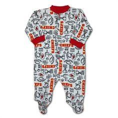 b985fb6284 Kansas City Chiefs Baby Pajamas Kansas City Chiefs