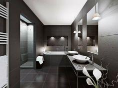 salle de bain moderne en noir