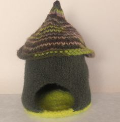 Waldorf Toy  Gnome House  Natural/EcoFriendly  by woolies on Etsy