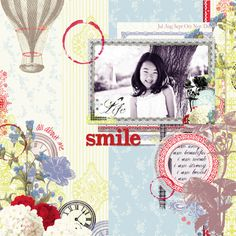 """Digital Layout created by Webster's Pages """"All About me"""" Digital Collection."""