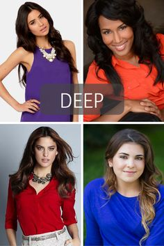 Stop obsessing and wear this color for your headshots! For DEEP ladies.- Tabitha Dumas