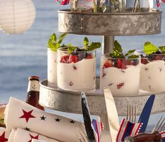 Serving idea for 4th of July