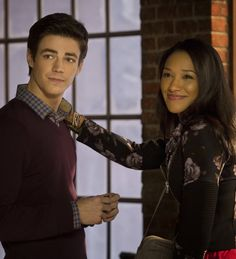 The Flash -  Grant Gustin as Berry Allen & Candice Patton as Iris West