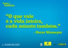 Homenagem ao arquiteto Oscar Niemeyer, que projetou o CCBB DF.   Um orgulho também para o CCBB SP e para o CCBB RJ.