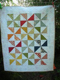 Kate, Pinwheel Baby Quilt by blackcat20, via Flickr