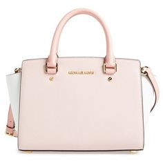 MICHAEL Michael Kors 'Medium Selma' Tricolor Leather Satchel available at - Sale! Shop at Stylizio for women's and men's designer handbags luxury sunglasses watches jewelry purses wallets clothes underwear Mk Handbags, Handbags Michael Kors, Fashion Handbags, Purses And Handbags, Michael Kors Bag, Fashion Bags, Designer Handbags, Cheap Handbags, Large Handbags