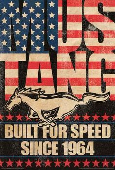 Ford Mustang Built for Speed Automotive Poster 24x36 – BananaRoad